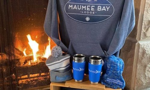 2 Sweatshirts, hats, and coffee mugs