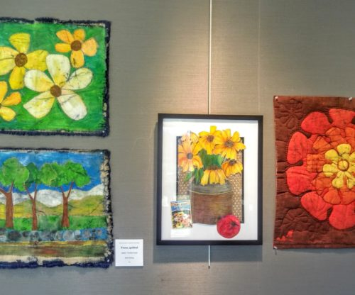 Art Gallery - Flower Paintings and Quilt
