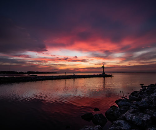 Maumee Bay at sunset