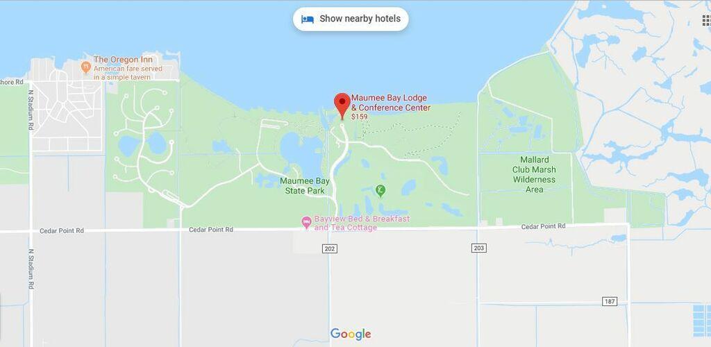 Maumee Bay Lodge Map